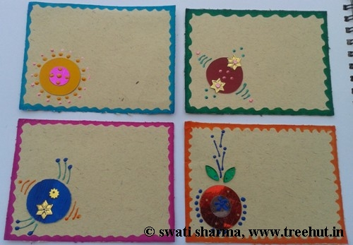 DIY Indian art on gift tags