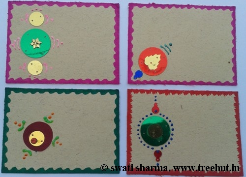 Festive India art on gift tags
