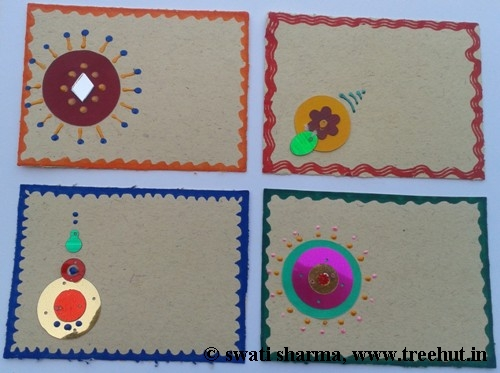 Indian art on gift tags