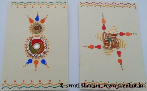 Art therapy ideas handmade gift tags from India