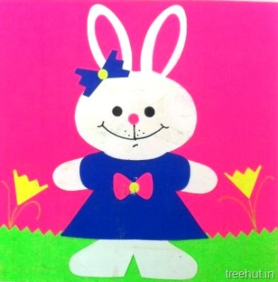standing easter bunny kids crafts for preschool toddlers