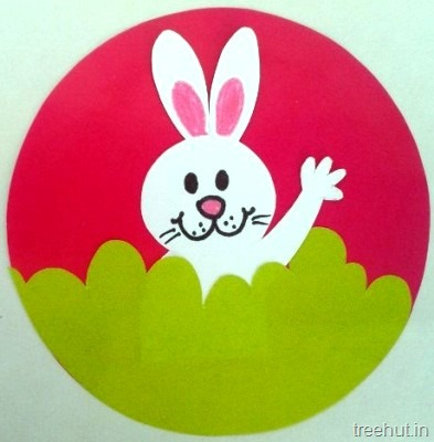 waving easter bunny paper kids crafts for preschool toddlers