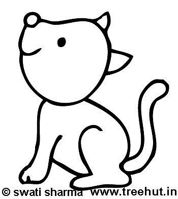 Coloring page, Pet cat