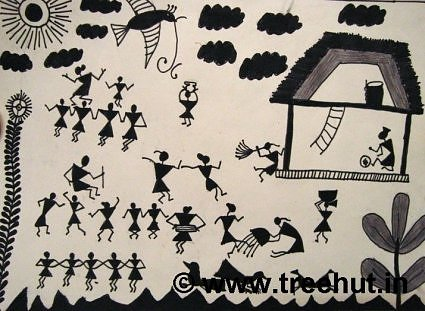 Dance in Warli art, India