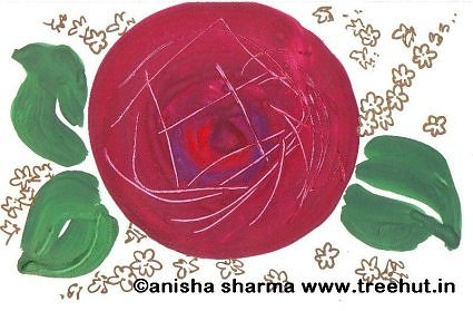 Poster color Rose by Anisha Sharma