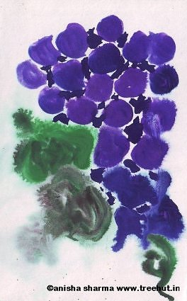 Water Color grapes by Anisha Sharma