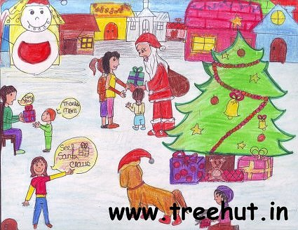 Christmas child art by Noor Wahid