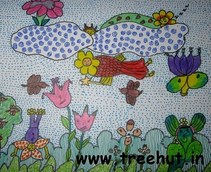 Abstract garden art by Nidhi Kanaujia