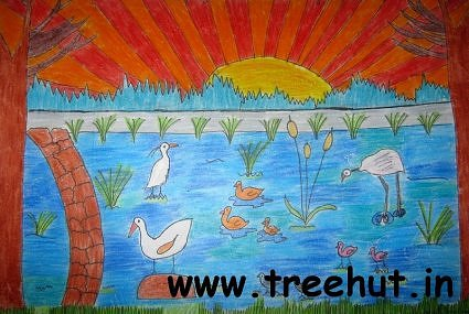 Birdwatching India art by Kriti Bansal