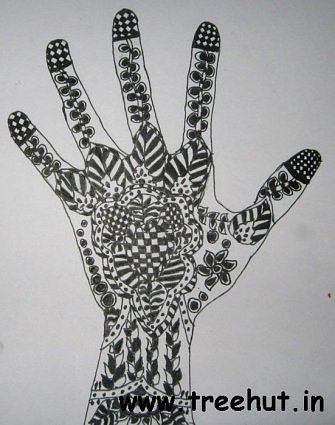 Indian Henna pattern art by child Nidhi Kanaujia