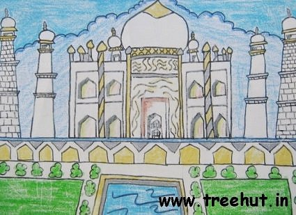 Taj Mahal by child artist Sutikshan Singh