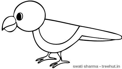 sitting parrot coloring page
