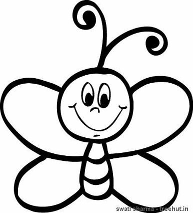 line art honey bee coloring page
