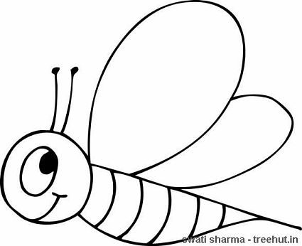 worker bee coloring page