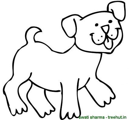 Barking Dogs Coloring Pages