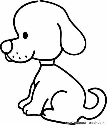 Sitting Dogs Coloring Pages