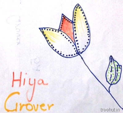colorful-dot-art flower by Hiya Grover La Martiniere Girls College Lucknow