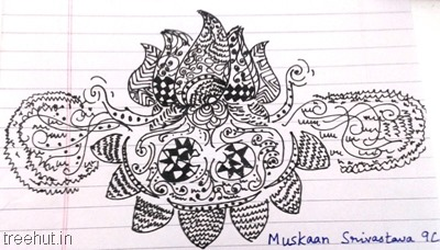 flower-zentangles-patterns-by-kid La Martiniere Girls College Lucknow