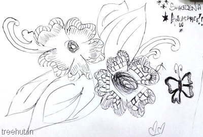 flower-zentangles-patterns-by-kids La Martiniere Girls College Lucknow