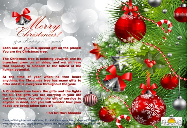 christmas-message-from-sri-sri ravi shankar