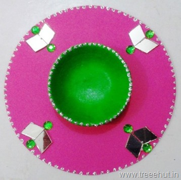 upcycle cd candlestand kids craft idea diwali christmas