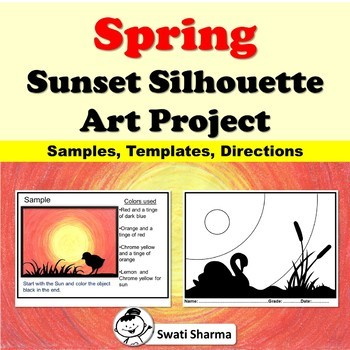 Spring, Summer Sunset Silhouette Art Project