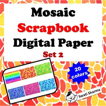 Mosaic Scrapbook Digital Paper, Set 2