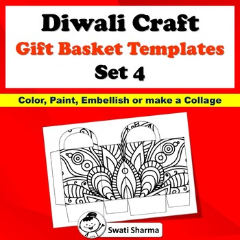 Ancient India, Art Sub Plan, Diwali Craft, Gift Basket Templates, Set 4
