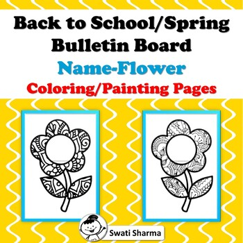 Name Banner, Back to School, Spring, Bulletin Board, Flower Coloring Pages