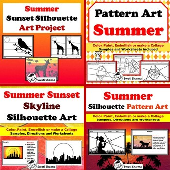 Elementary Summer Art Project Bundle