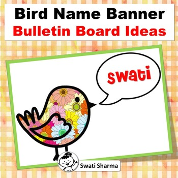 Bird Name Banner, Spring, Back to School, Bulletin Board, Classroom Display