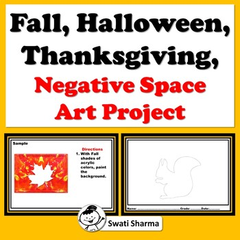 Fall, Halloween, Thanksgiving, Negative Space, Art Project