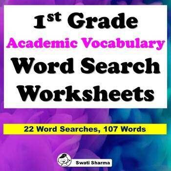1st Grade Academic Vocabulary Word Search Worksheets
