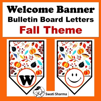 Welcome Pennant Banner, Fall Theme, Bulletin Board Letters