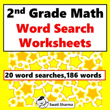 2nd Grade Math Vocabulary, Word Search Worksheets