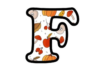 Autumn, Fall Theme Letters, Numbers and Symbols, Fall Classroom Decor