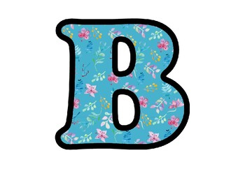Spring Flowers, Letters, Numbers and Symbols, Spring Classroom Decor