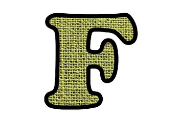 Green Jute Fabric Texture Bulletin Board Letters, Numbers, Symbols, Eco Friendly