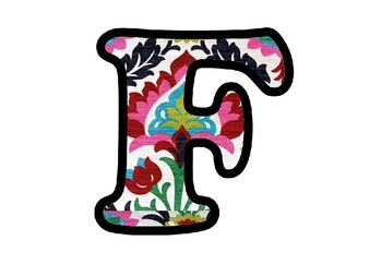 Floral Fabric Bulletin Board Letters, Numbers and Symbols, Asian Classroom Decor