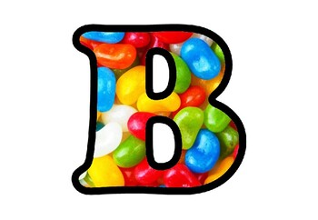 Jellybeans Bulletin Board Letters, Numbers and Symbols, Classroom Decor