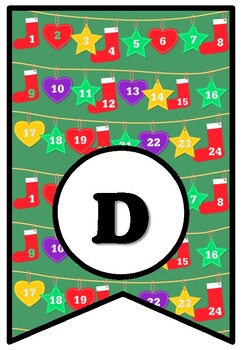 Days Of Kindness, Christmas Bulletin Board Sayings Pennant Banner, Class Display