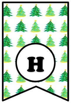 Have A Tree-Mendous Christmas, Christmas Bulletin Board Sayings Pennant Banner
