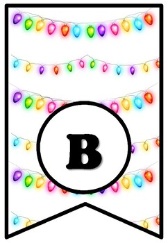 Bright Students Light Up Our Classroom! Christmas Bulletin Board Sayings Pennant