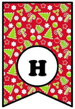 'Happy Holidays', Winter, December, Bulletin Board Sayings Pennant Banner Decor