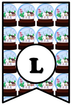 If I Lived In A Snow Globe, LETTERS Winter Bulletin Board Sayings Pennant Banner