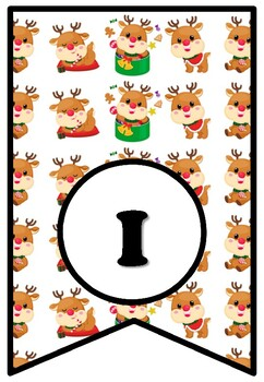 If I Had A Reindeer, Bulletin Board Sayings Pennant Letters, Christmas, Rudolf