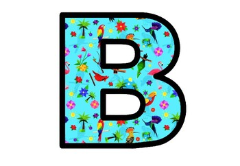 Birds, Bulletin Board Letters, Alphabet Posters Spring Classroom Decor