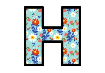 Spring, Flowers, Garden Bulletin Board Letters, Alphabet Posters Clasroom Decor