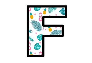 Tropical, Flamingo, Bulletin Board Letters, Alphabet Posters Classroom Decor
