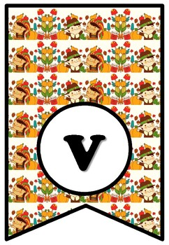 Happy Vegan Thanksgiving, Bulletin Board Sayings Pennant Letters, Banner Quote